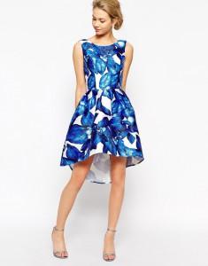 яркие асимметричные платья
