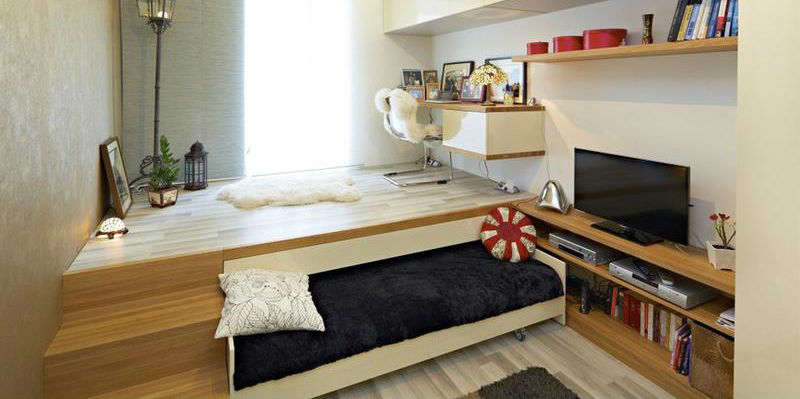Спальное место в подиуме
