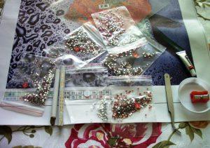 Инструменты для вышивки стразами