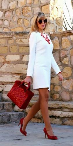 Красные туфли и аксессуары