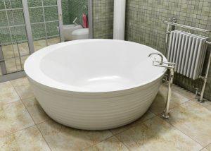 выбор формы ванны круглая