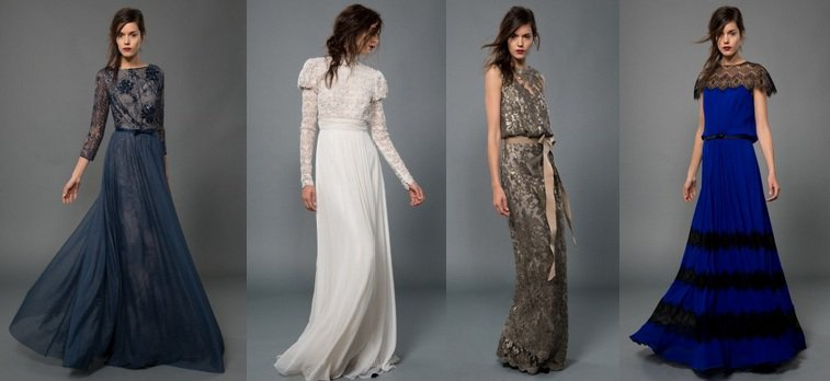 длинное струящееся платье