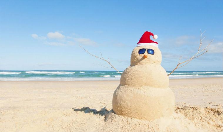 Песчаный снеговик