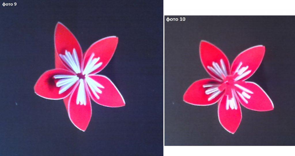 сбор бутона цветка из готовых лепестков