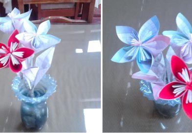 Техника оригами на примере создания несложного пятилепесткового цветка
