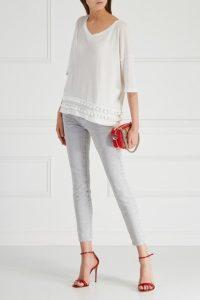 Укороченные узкие джинсы